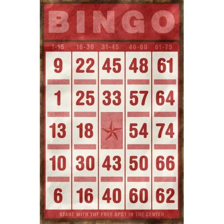 Bingo Card - Red