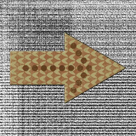 Brown Polka Dot Arrow