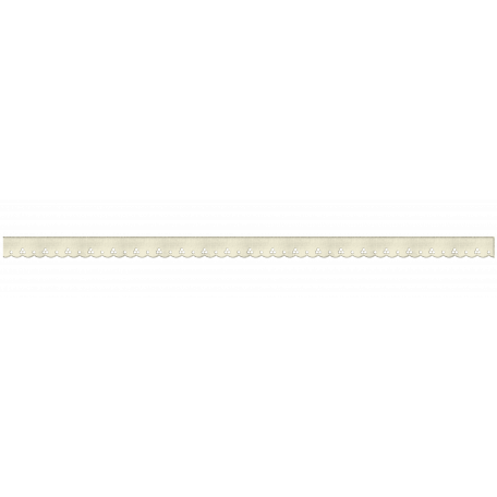 Scalloped White Ribbon
