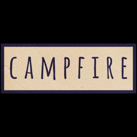 Khaki Scouts Label - Campfire
