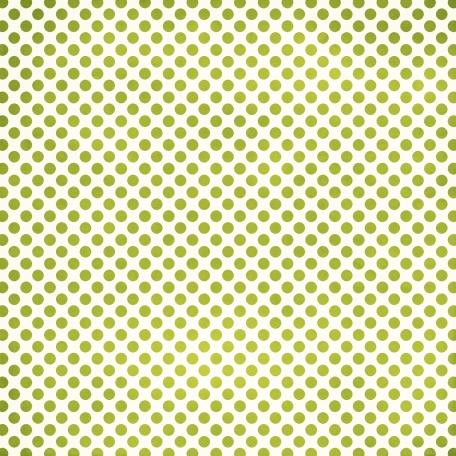 Polka Dots 23 Paper - Green & White