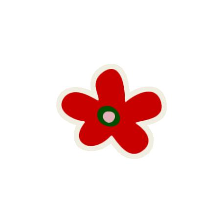 Mix & Match Red Flower Sticker