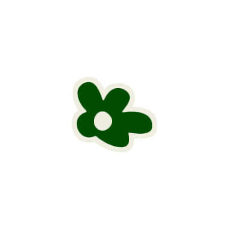 Mix & Match Green Flower Sticker