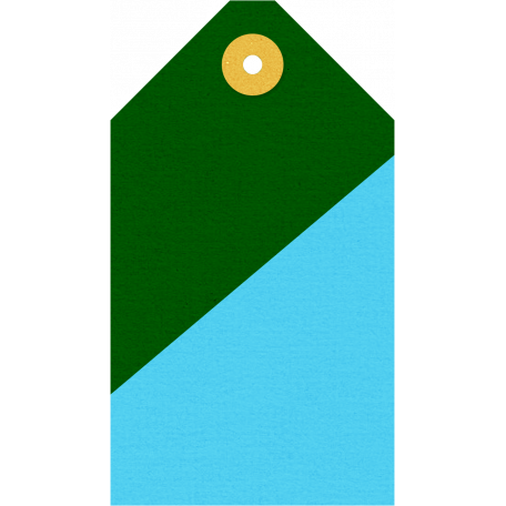 Mix & Match Green & Blue Tag
