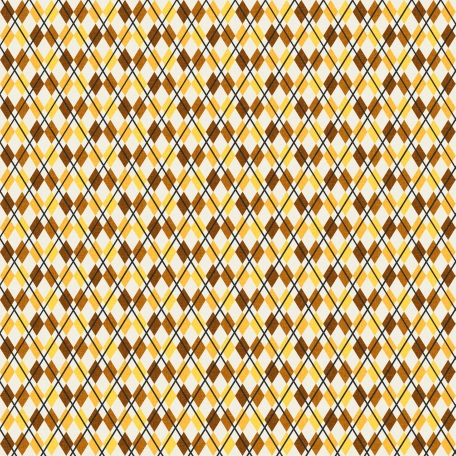Boozy Beer Paper - Argyle Brown & Yellow