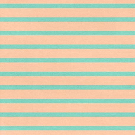 Thanksgiving - Stripes Paper - Teal & Peach