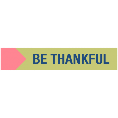 Thanksgiving Words - Be Thankful