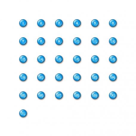 Brighten Up Dates - Blue