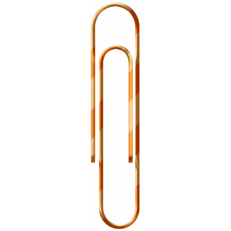 Brighten Up Paperclip - Orange
