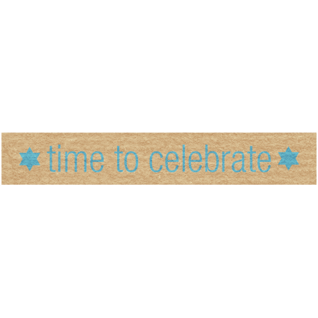 Hanukkah Label - Time To Celebrate