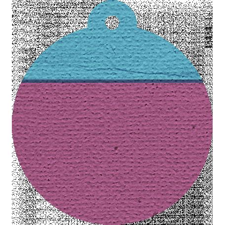 Hanukkah Tag - Purple & Blue