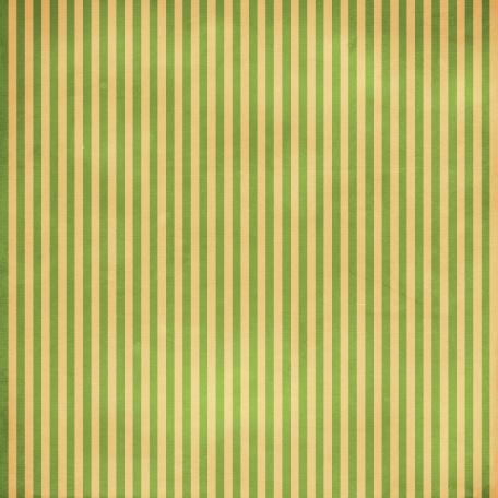 Stripes 54 - Green & Tan