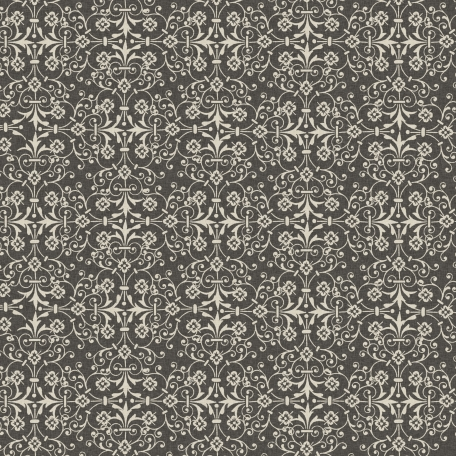 Damask 16 Paper - Gray & White