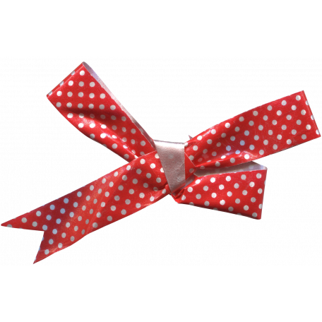 Deck The Halls - Red Polka Dot Bow