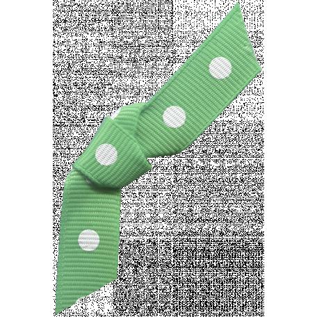 Twilight - Green Polka Dot Bow