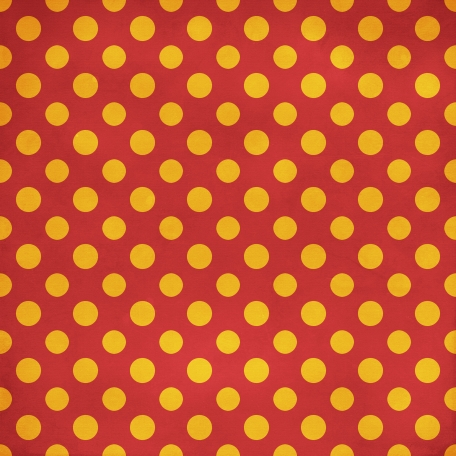 Polka Dots 35 Paper - Red & Orange