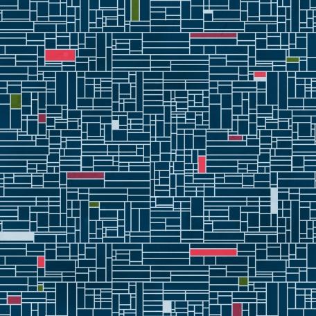 Grid 13 Paper - Navy