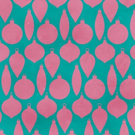 Ornament Pattern - Teal & Purple