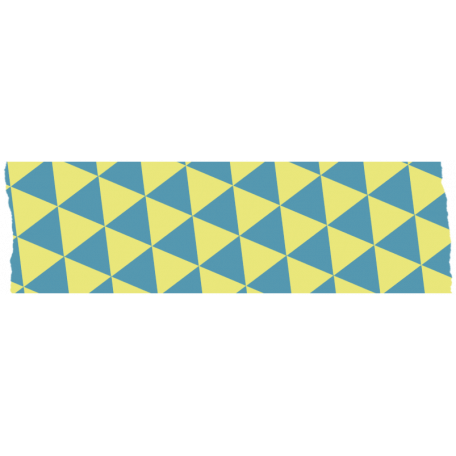 Like This Tape - Yellow With Blue Triangles