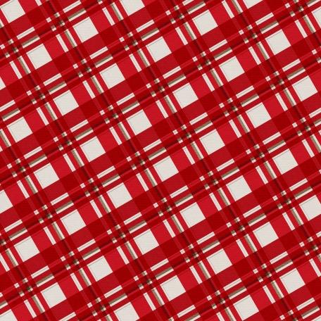 Winter Plaid - Red Plaid Paper - Diagonal