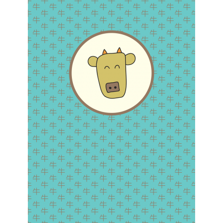 Chinese New Year Zodiac Journal Card - Ox