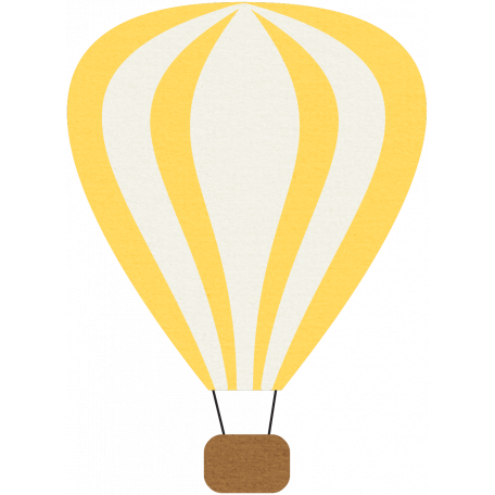 Hot Air Balloon - Yellow Balloon
