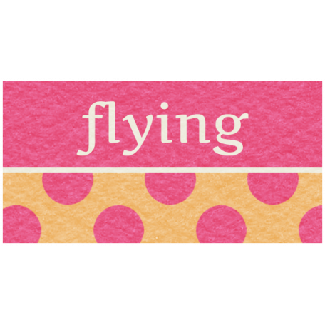 Hot Air Balloon - Flying Label