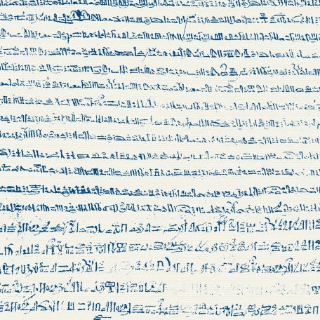 Egypt - Glyphs Paper - Blue & White