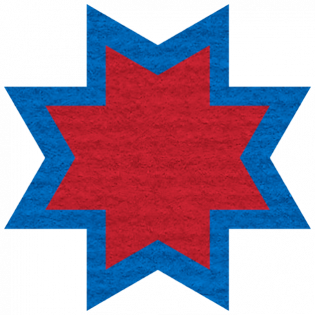 Egypt Scrap - Ohio Star Red & Blue