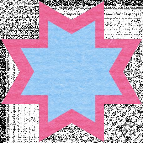 Egypt Scrap - Ohio Star Pink & Blue