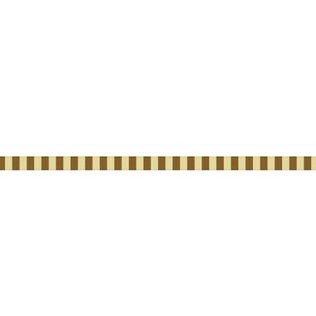Thin Ribbon - Stripes 01 - Yellow & Brown