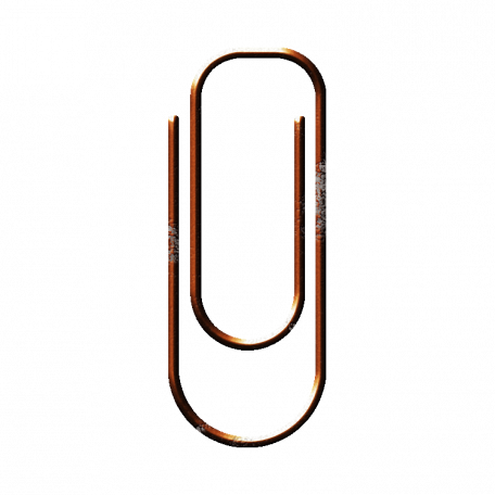 Orange Paper Clip