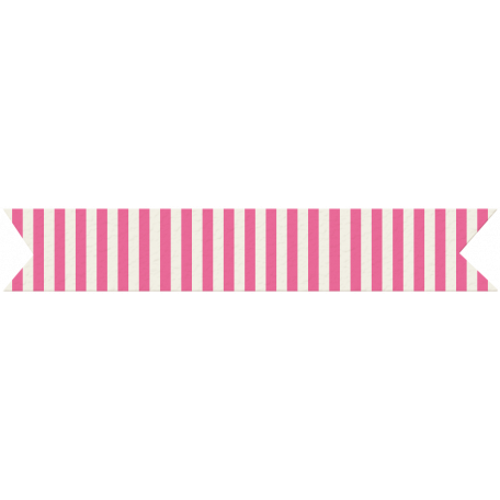 You+Me Washi Tape - Pink & White Stripes