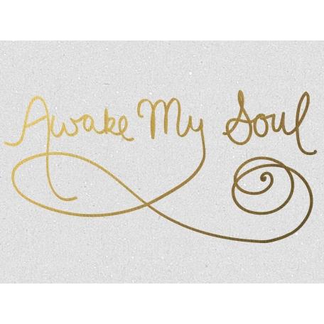 Awake My Soul - Golden Ocean Journal Card