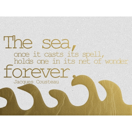 The Sea Forever - Golden Ocean Journal Card
