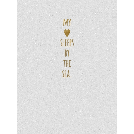 My Heart Sleeps By The Sea - Golden Ocean Journal Card
