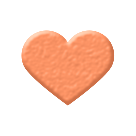 Oceanside Shape - Coral Heart