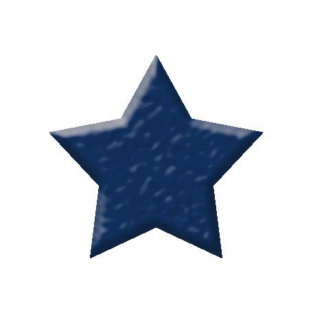 Oceanside Shape - Dark Blue Star