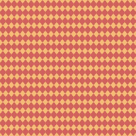 DSA Jan Blog Train Paper - Orange & Red Large Quatrefoil