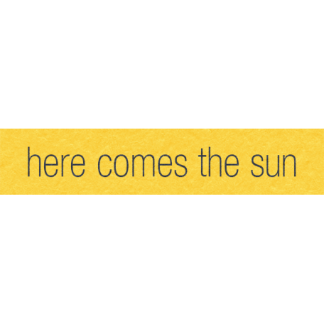 Where Flowers Bloom Labels - Here Comes The Sun