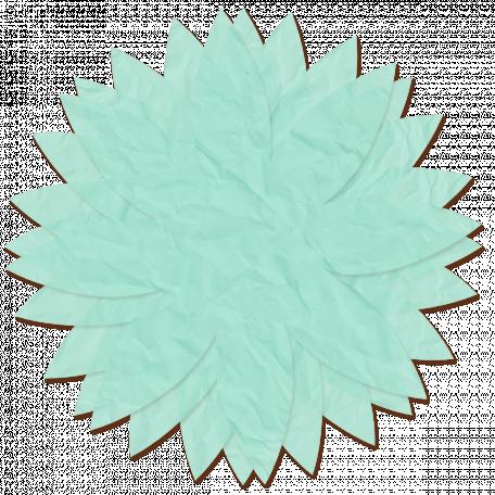 Tissue Paper Flower - Teal