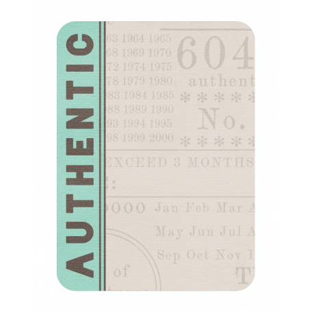 Authentic Journaling Card