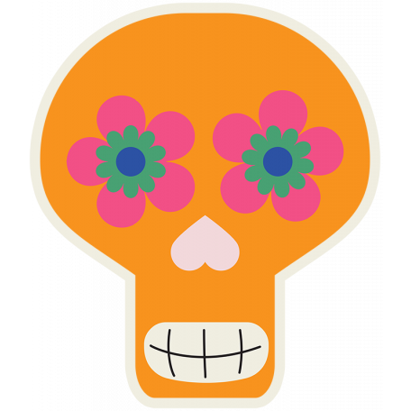 Skull Sticker 01 - Mexico