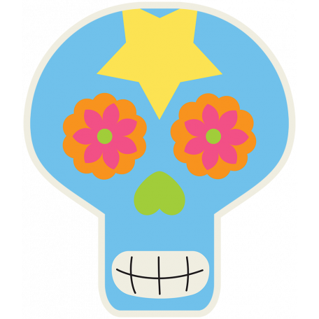 Skull Sticker 03 - Mexico