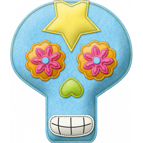 Felt Skull 03 - Mexico