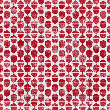 Floral 72 - Red & White