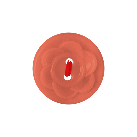 Red Flower Button