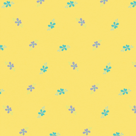 City Bicycle - Floral Paper - Yellow