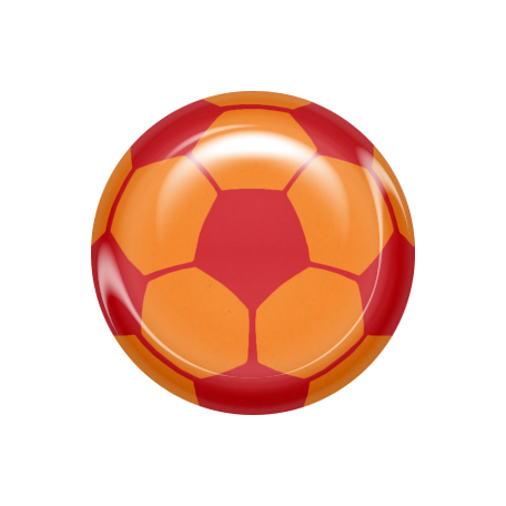 World Cup Bard Soccer Ball - Orange & Red