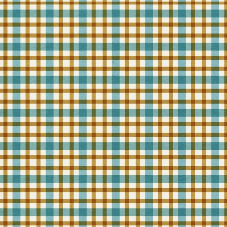 Plaid Paper 10 - Teal & Mustard